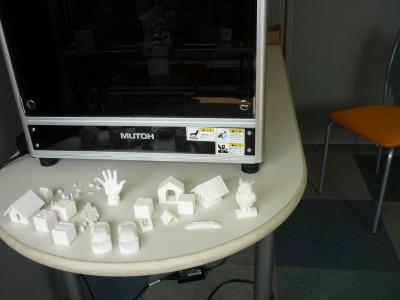 3Dプリンターと作品